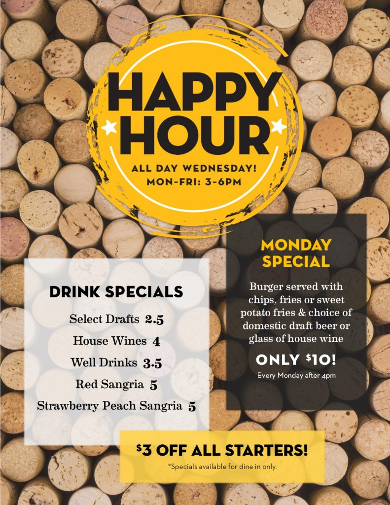Cork Happy Hour Specials