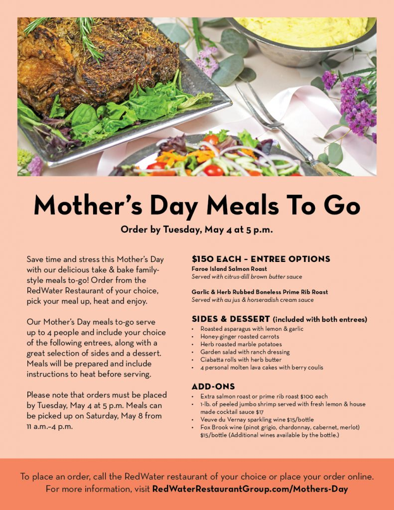 Mother's Day Meals To Go